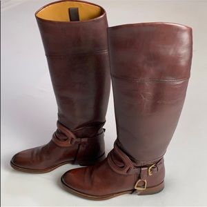 Ralph Lauren Oxblood Leather Riding Boots